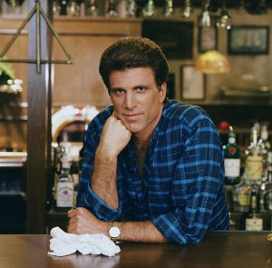 Ted Danson as Sam Malone on the NBC hit show Cheers