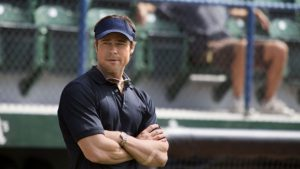 Brad Pitt as Billy Beane in the 2011 film Moneyball