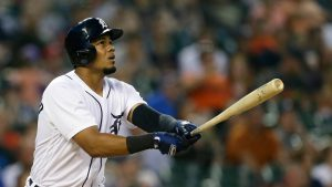 Jeimer Candelario smashes his 8th home run of the 2018 season for the Detroit Tigers