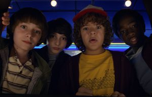 Stranger Things on Netflix features a cast of talented child actors during the golden ages of television