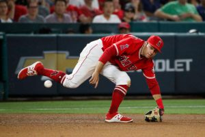David Fletcher stretches for a scorching shot at the hot corner MLB Second Half Storylines AL West