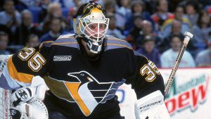 Tom Barrasso belongs in the NHL Hall of Fame and is an example of a successful young goalie like the flyers hope Carter Hart will be