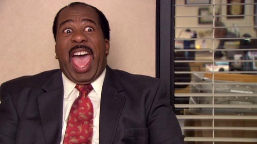 stanley hudson freaking out