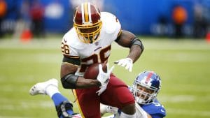 Adrian Peterson runs through the Giants offense in Week 8