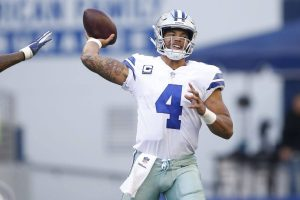 Dak Prescott slings a pass. He's one of the sneaky plays for your daily fantasy lineup in week 11