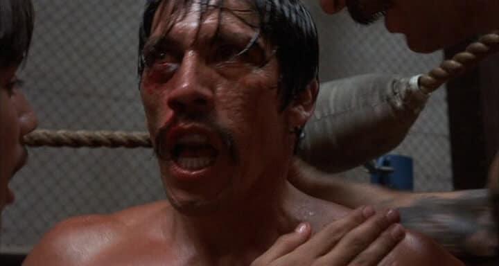Danny Trejo makes his debut as 'Boxer' in the 1985 film Runaway Train.