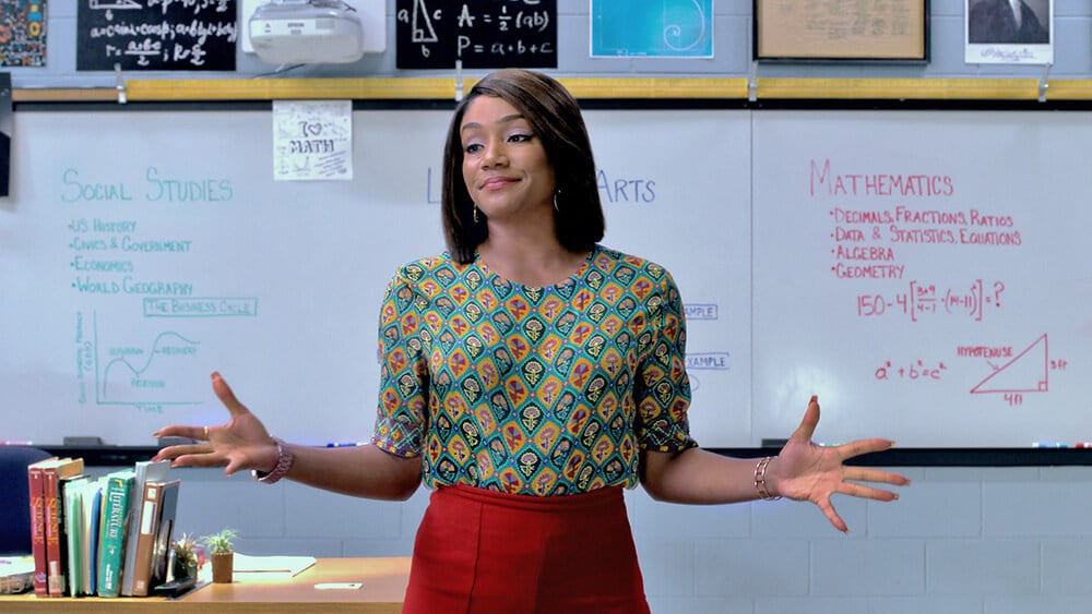 Tiffany Haddish stars as Kevin Hart's teacher in Night School. Ironically enough, Haddish struggled mightily in school herself. She was unable to read until the ninth grade.