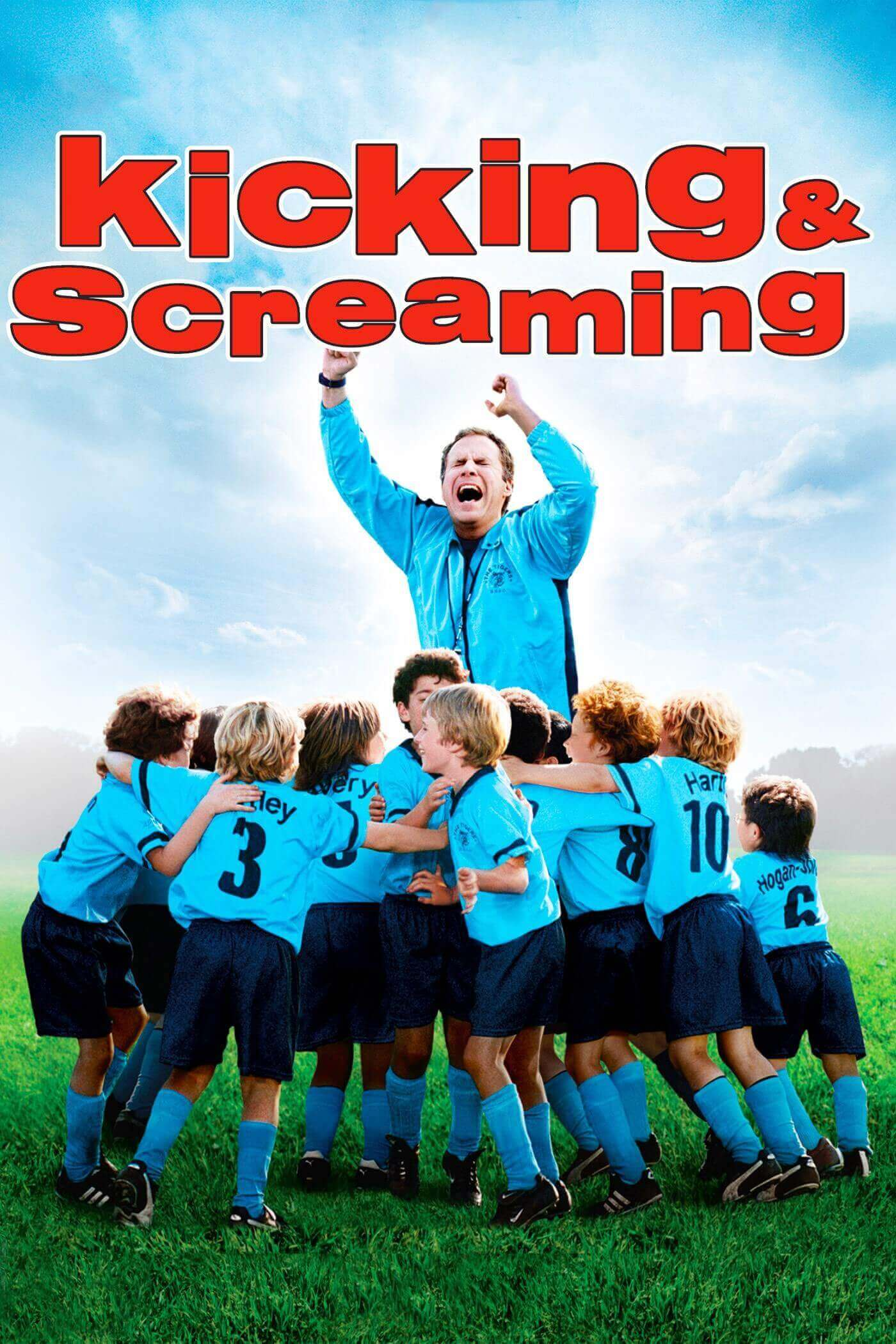 Kicking and Screaming cover featuring Will Ferrell and the Tigers soccer team