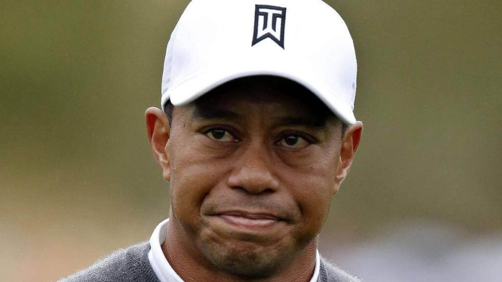 Tiger Woods reacts during the second round of the Phoenix Open in 2015. Many golf journalists called it rock bottom for the superstar.