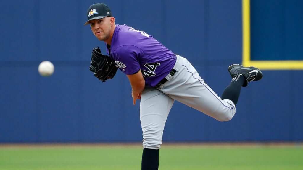 Tyler Anderson dons the Colorado Rockies alternate spring training hat during a start this past March, one of the most underrated MLB alternates in the league