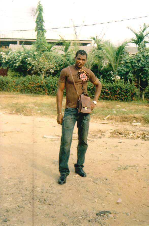 22-year-old Francis Ngannou poses for the camera in his home country of Cameroon before he became a UFC star.