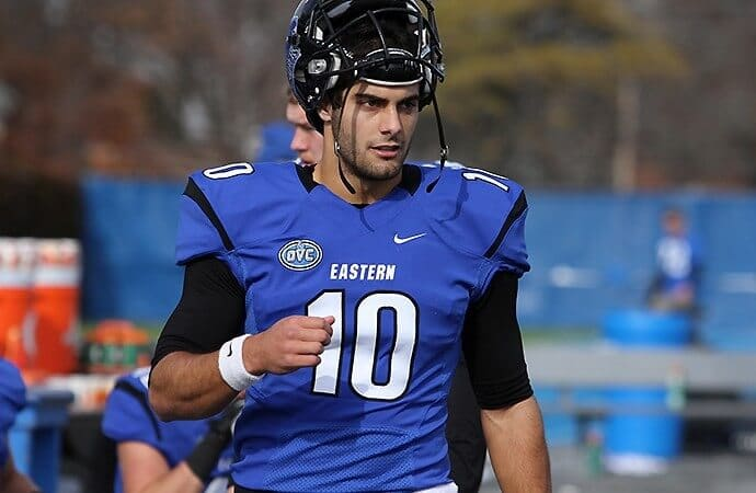 Jimmy Garoppolo in his college days at Eastern Illinois University