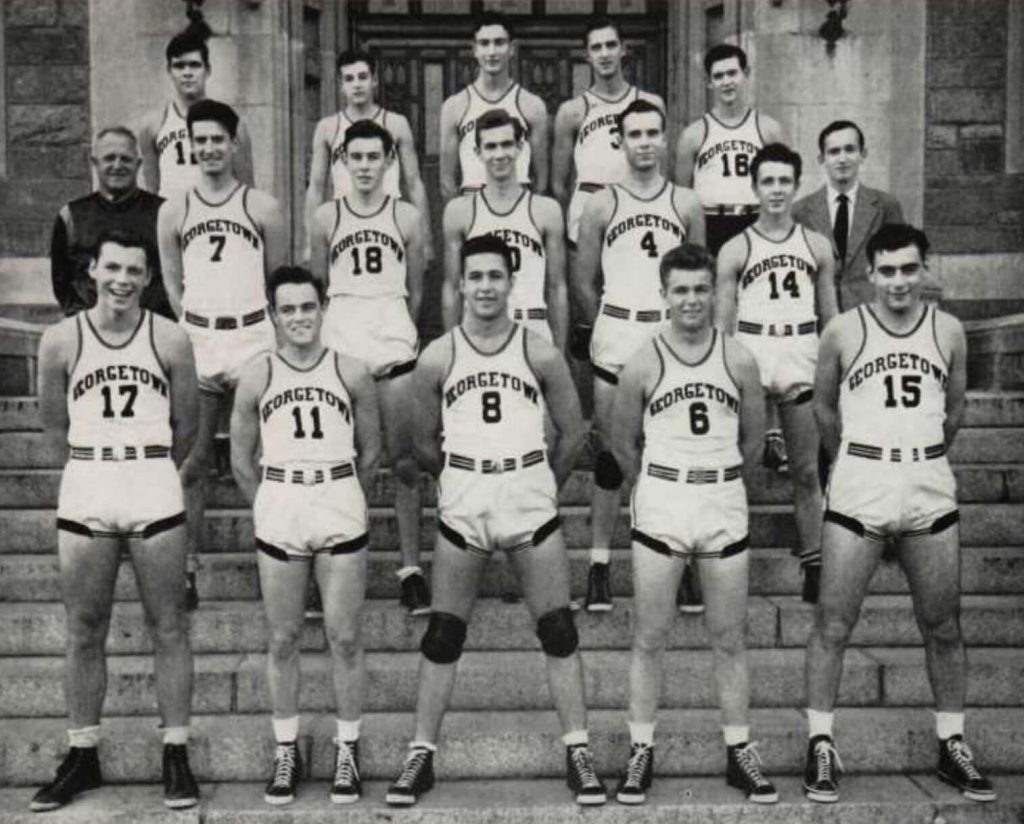 Dino Martin and the 1942 Georgetown Hoyas basketball team