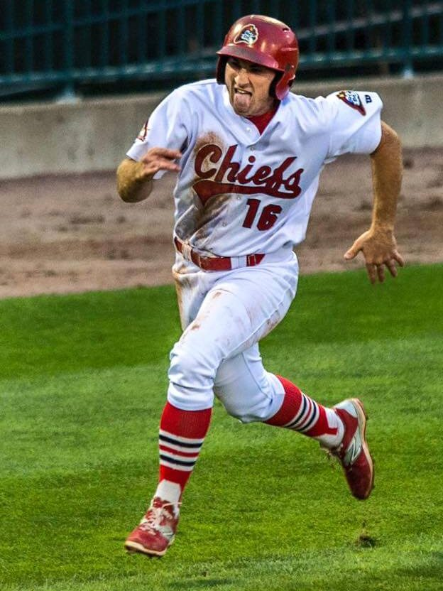 Jake Gronsky rounds third and heads home during his minor league baseball career.