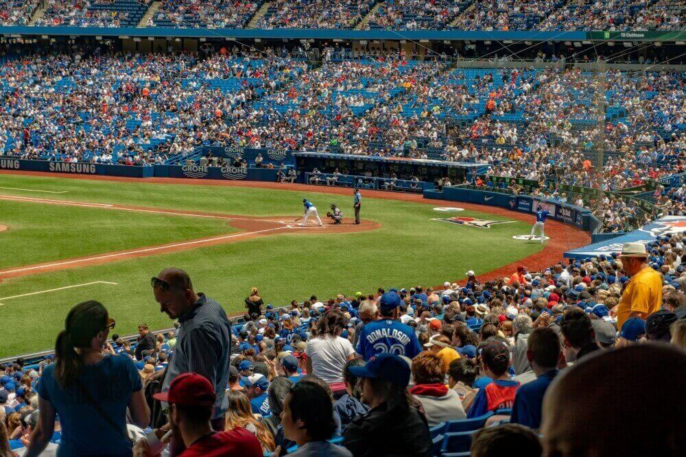 A fan's view of the Rogers Centre in Toronto, Ontario, Canada